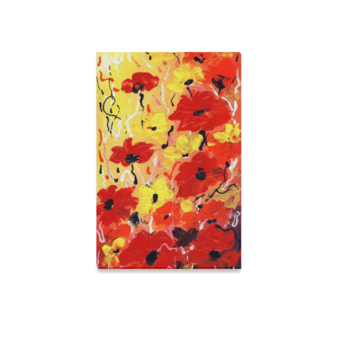 "Abstract Flower Acrylic Painting Canvas Print 12""x18"""