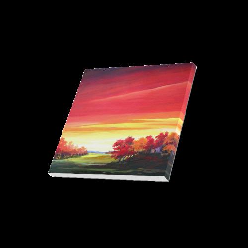 "Autumn Landscape - Acrylic on Canvas Canvas Print 16""x16"""