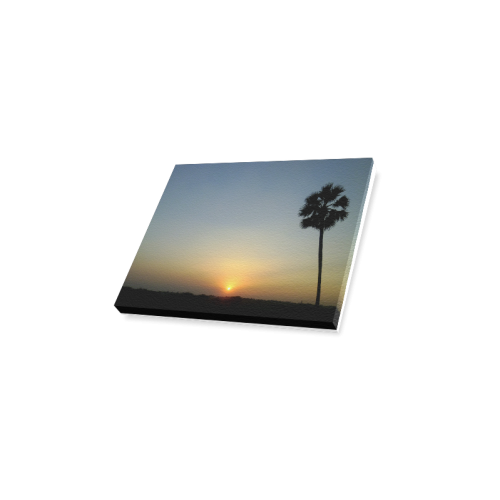 "Rural Sunset Canvas Print 10""x8"""