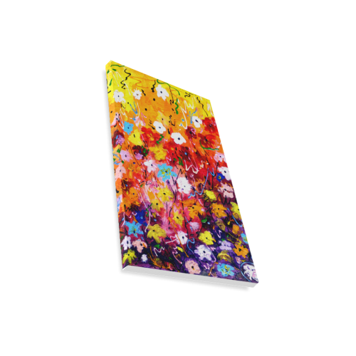"Abstract Flower Painting Canvas Print 12""x18"""