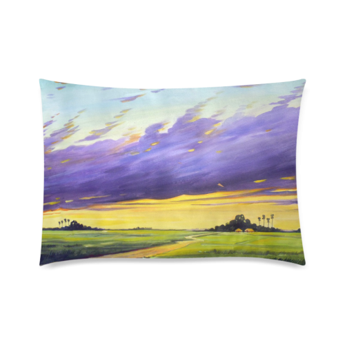 "Acrylic Landscape Painting Design Custom Zippered Pillow Cases 20""x30""(Twin Sides)"