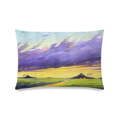 "Acrylic Landscape Painting Design Custom Zippered Pillow Cases 16""x24""(Twin Sides)"