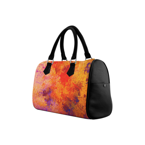Abstract Painting Design Boston Handbag (Model 1621)