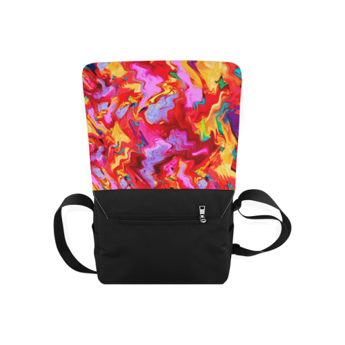 Abstract Painting Design Messenger Bag (Model 1628)