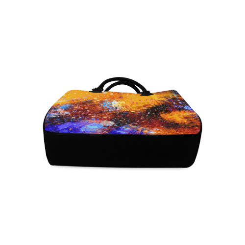 Abstract Splash Painting Design Boston Handbag (Model 1621)