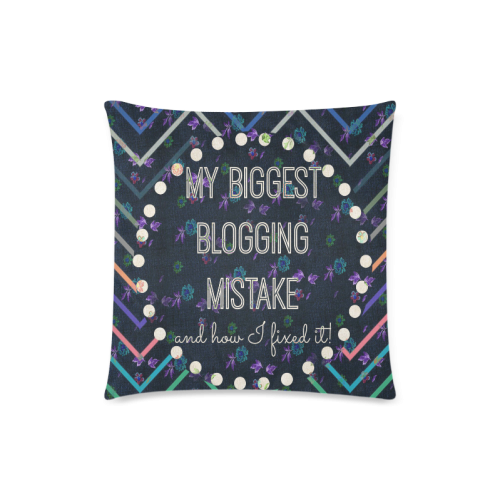 """Mistake square 1 Custom Zippered Pillow Case 18""""x18""""(Twin Sides)"""