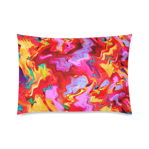 "Abstract Painting Design Custom Zippered Pillow Cases 20""x30""(Twin Sides)"