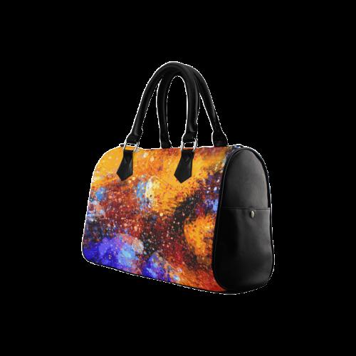 Abstract Splash Painting Design Boston Handbag (Model 1621)