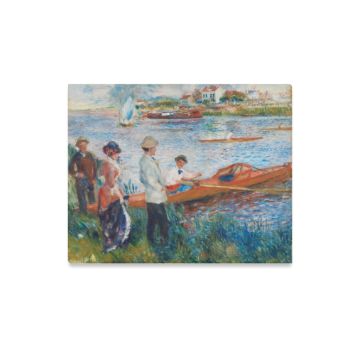 "Auguste Renoir Carsmen at Harbour Canvas Print 20""x16"""