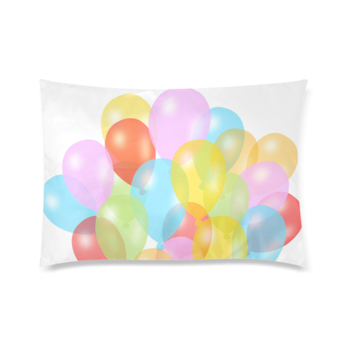 "Balloons  Design Custom Zippered Pillow Cases 20""x30""(Twin Sides)"
