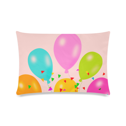 "Balloons  & Birthday Design Custom Zippered Pillow Cases 16""x24""(Twin Sides)"