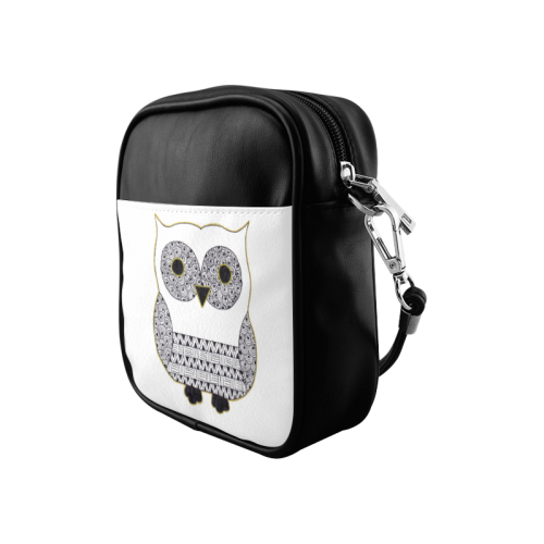 Black and White Owl Sling Bag (Model 1627)