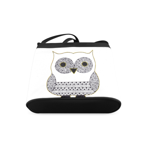 Black and White Owl Crossbody Bags (Model 1613)