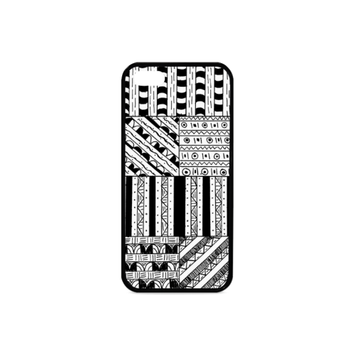 Abstract Black and White Rubber Case for iPhone 5/5s