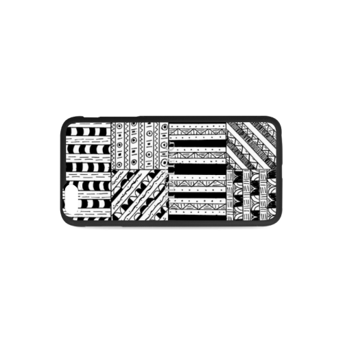 Abstract Black and White Rubber Case for iPhone 6/6s Plus
