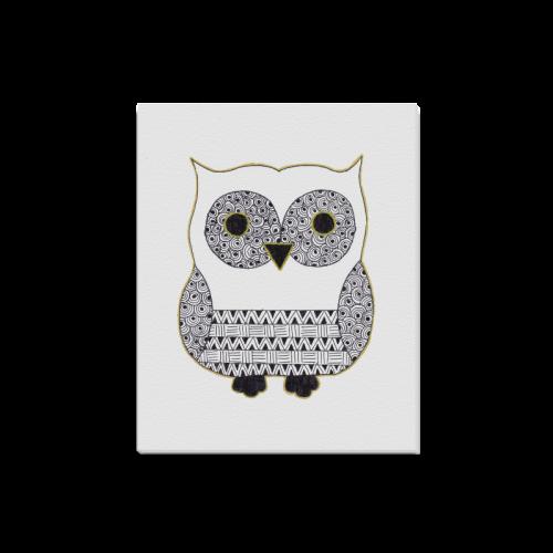 "Black and White Owl Canvas Print 16""x20"""