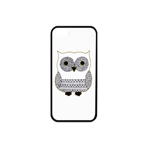 Black and White Owl Rubber Case for iPhone 5/5s