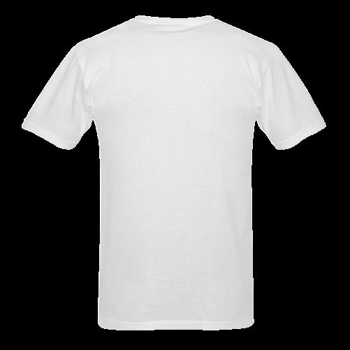 Black and White Owl Sunny Men's T- shirt (Model T06)
