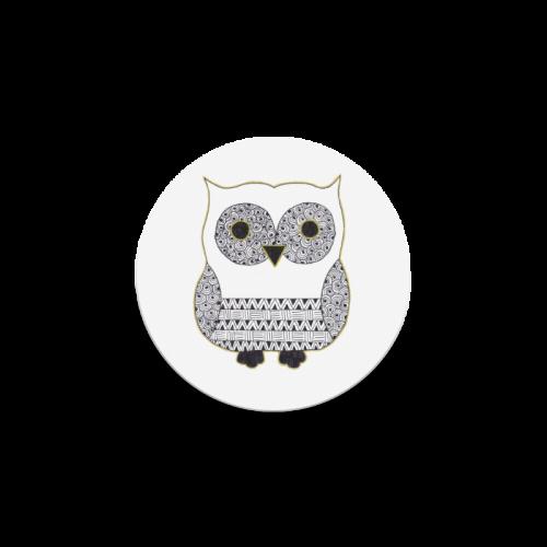 Black and White Owl Round Coaster