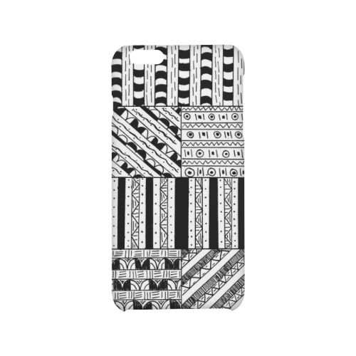 Abstract Black and White Hard Case for iPhone 6/6s plus