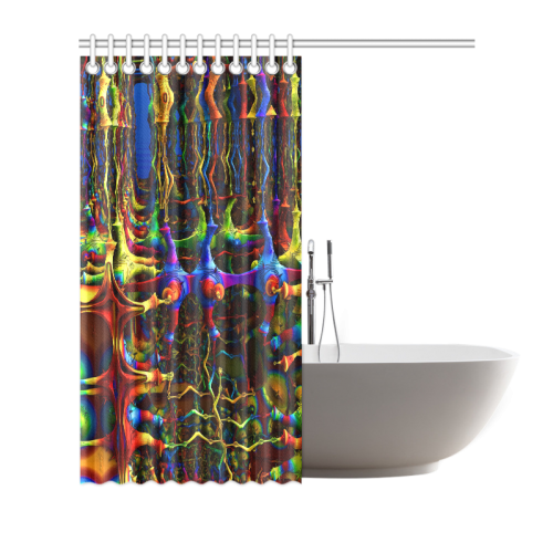 "Abstract Mandabulbs Shower Curtain 66""x72"""