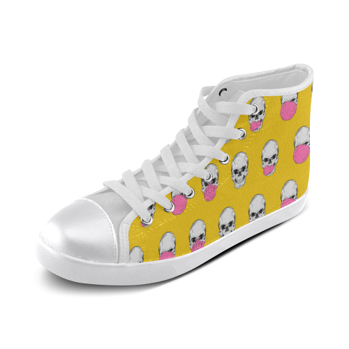 Be refreshed ... chew! Women's High Top Canvas Shoes (Model 002)