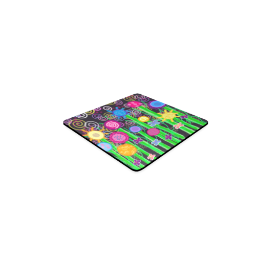 Magical Flowers Square Coaster