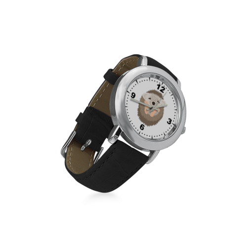 Baby Hedgehog Women's Rose Gold Leather Strap Watch(Model 201)