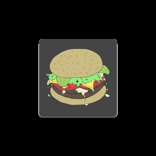 Cheeseburger Square Coaster