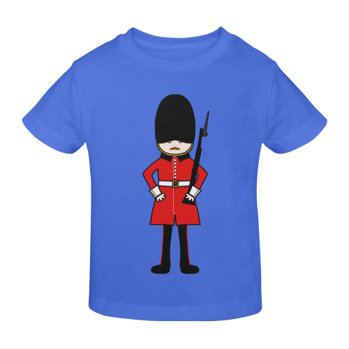 Cartoon Soldier - Queen's Royal Guard Sunny Youth T-shirt (Model T04)