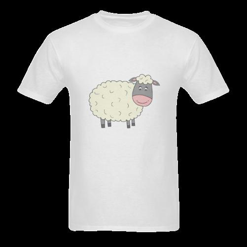 Black or White Sheep? Sunny Men's T- shirt (Model T06)