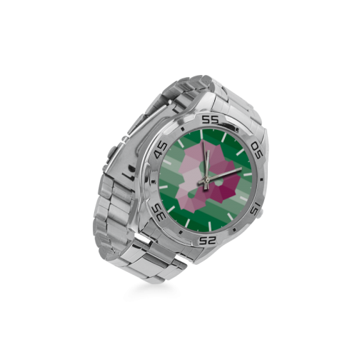 Square Spectrum (Magenta) Men's Stainless Steel Analog Watch(Model 108)