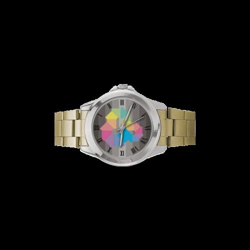 Square Spectrum (Rainbow) Women's Italian Charm Watch(Model 107)