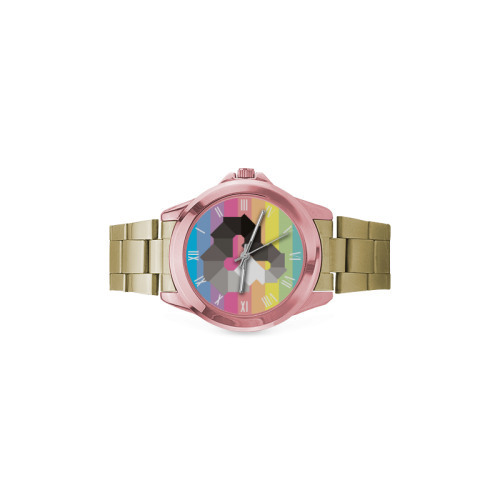 Square Spectrum (Grayscale) Women's Italian Charm Watch(Model 107)