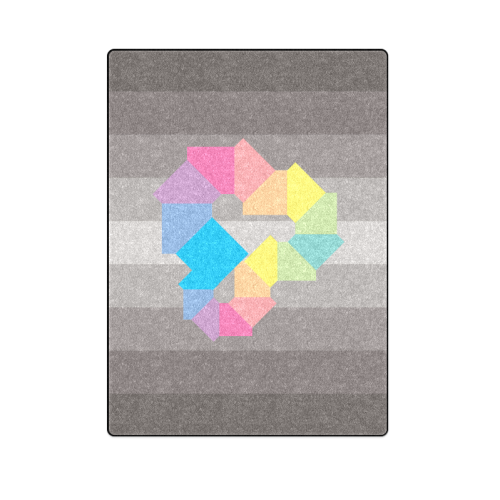 "Square Spectrum (Rainbow) Blanket 58""x80"""