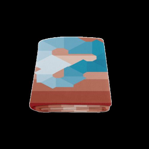 "Square Spectrum (Cyan) Blanket 58""x80"""
