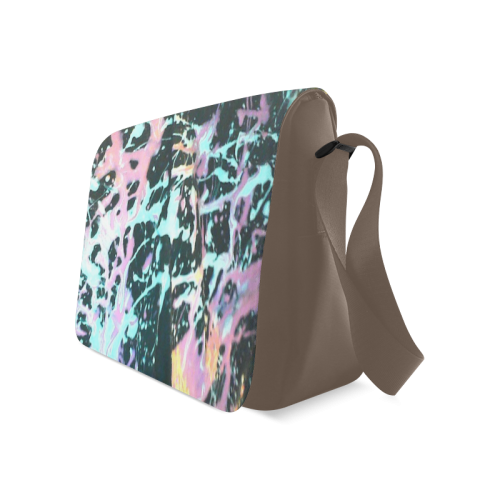 aBSTRACT SPLASH Messenger Bag (Model 1628)