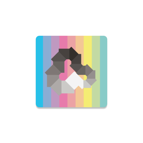 Square Spectrum (Grayscale) Square Coaster