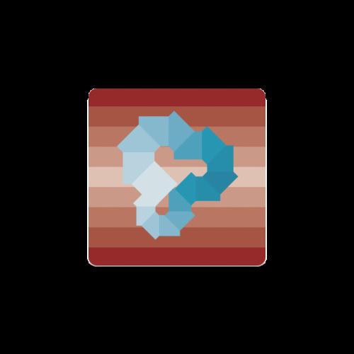 Square Spectrum (Cyan) Square Coaster