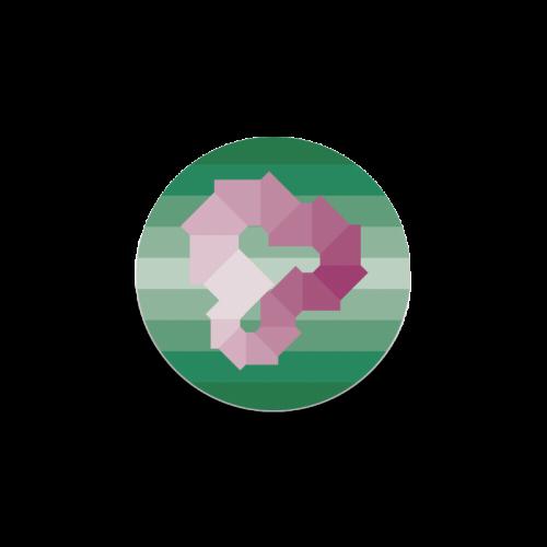 Square Spectrum (Magenta) Round Coaster