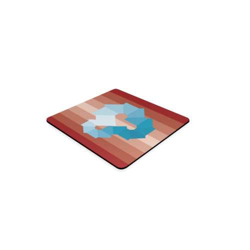 Square Spectrum (Cyan) Square Coaster
