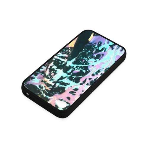 ABSTRACT SPLASH Rubber Case for iPhone 4/4s