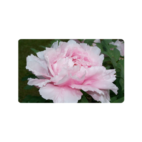 "Light Pink Peony Door Mat Doormat 30""x18"""