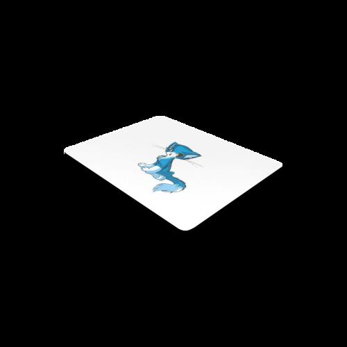 Blue Kitten Mouse Pad Rectangle Mousepad