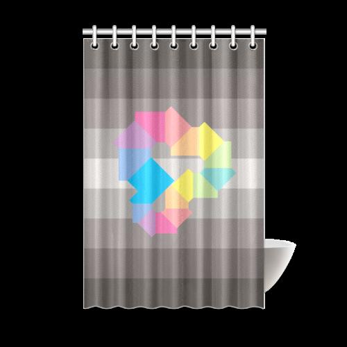 Square Spectrum Rainbow Shower Curtain 48x72