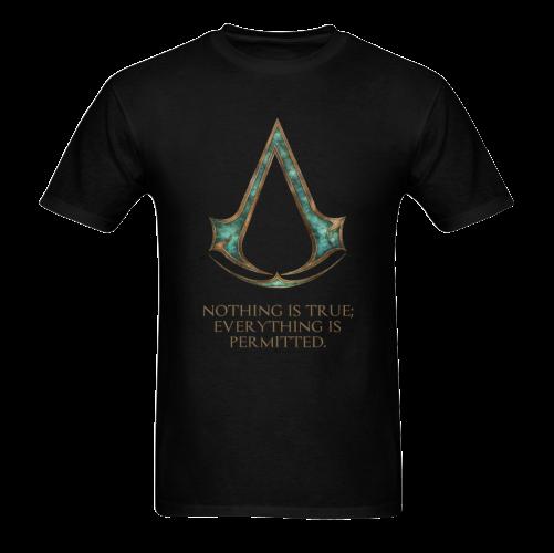 Assassins Creed Skyrim lexicon mashup Sunny Men's T- shirt (Model T06)