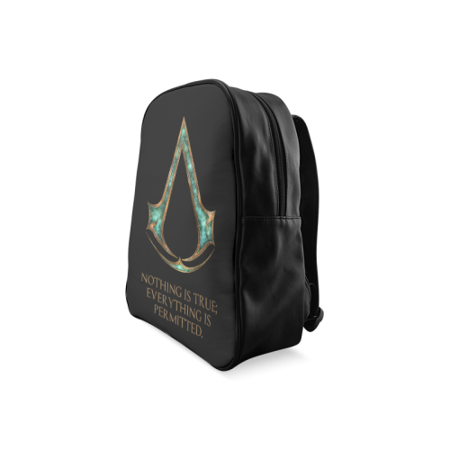 Assassins Creed Skyrim lexicon mashup School Backpack/Large (Model 1601)