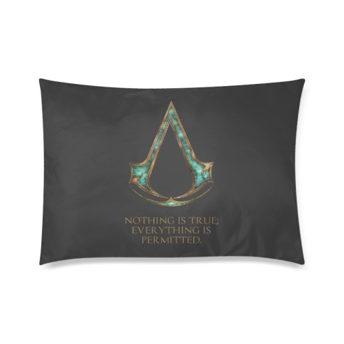 """Assassins Creed Skyrim lexicon mashup Custom Zippered Pillow Case 20""""x30""""(Twin Sides)"""