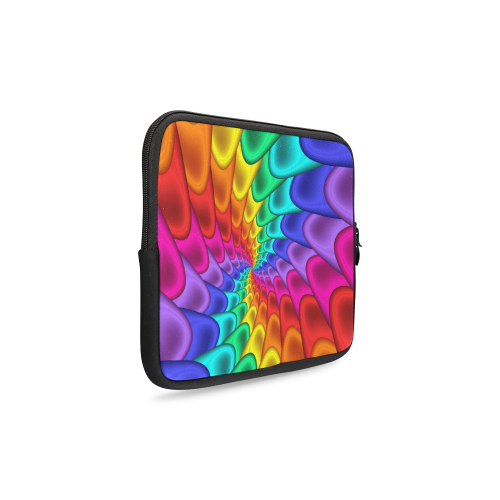 Psychedelic Rainbow Spiral Laptop Sleeve 10''