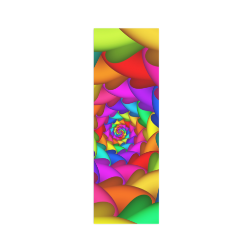 """Psychedelic Rainbow Spiral Poster 12""""x36"""""""